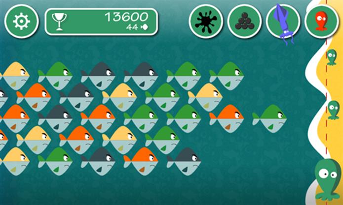 Pulpi Rescue é um puzzle para Windows Phone onde o jogador deve eliminar peixes. (Fotos: Divulgação/Windows Phone Store)
