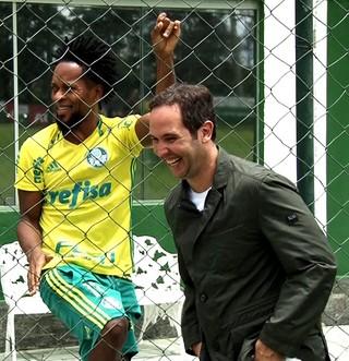 Caio Ribeiro Zé Roberto Palmeiras (Foto: Reprodução/Globo Esporte)