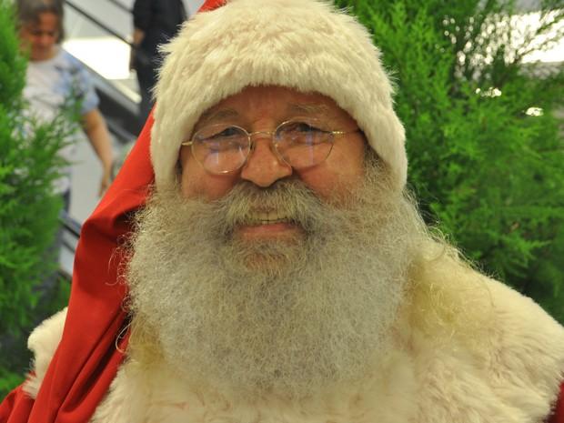 José Nilton trabalha como Papai Noel em Cuiabá (Foto: Desireé Galvão/ G1)