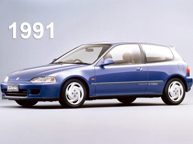 Quinta geração do Honda Civic, de 1991 (Foto: Divulgação)