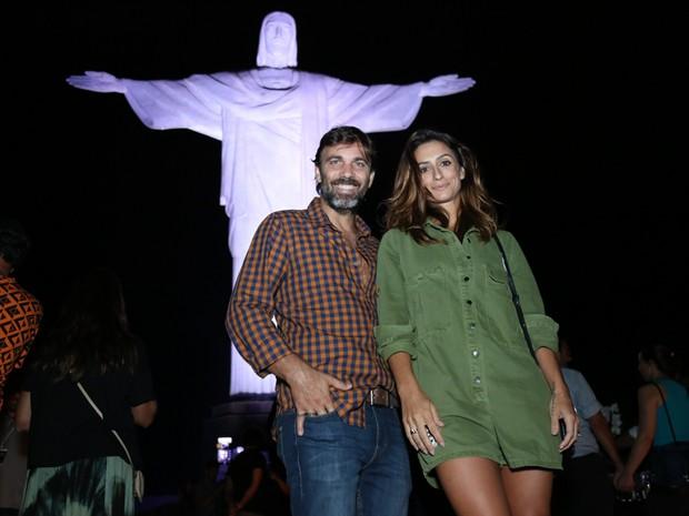 Marcelo Faria e Camila Lucciola em show na Zona Sul do Rio (Foto: Roberto Filho/ Brazil News)