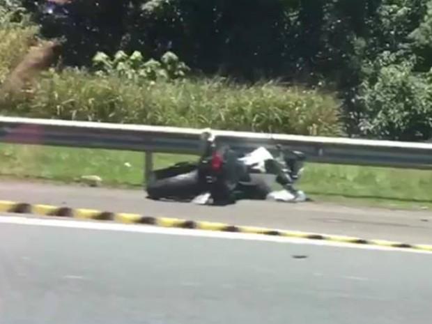 Acidente com motociclistas aconteceu na Via Anhanguera, em Jundiaí (SP) (Foto: Jornal da Região/Divulgação)