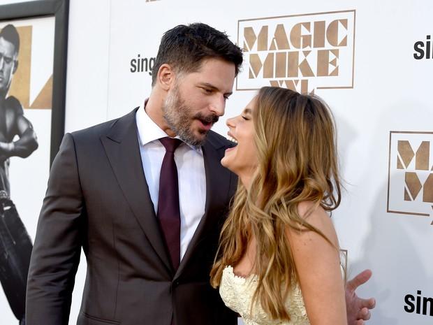 Joe Manganiello e Sofia Vergara em première de filme em Los Angeles, nos Estados Unidos (Foto: Kevin Winter/ Getty Images/ AFP)