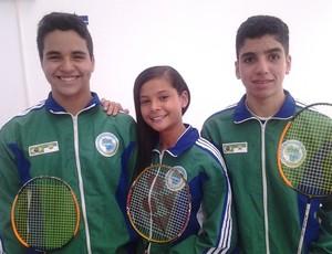 Atletas representam o RN no Nacional de Badminton, em Teresina (Foto: Divulgação)