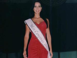 Aline Wega foi eleita Miss Campinas (SP) em 2004 (Foto: Arquivo Pessoal/ Aline Wega)