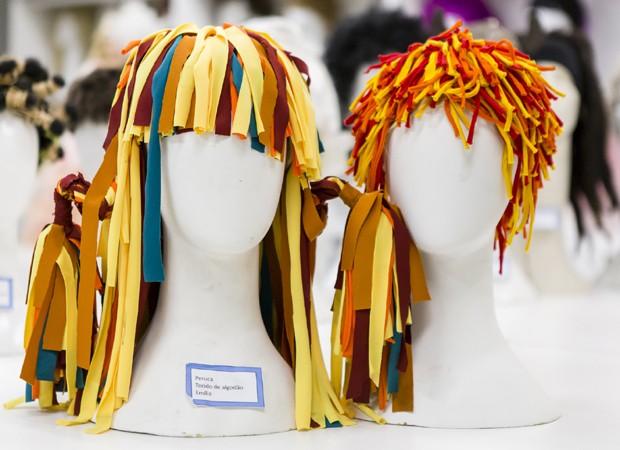 Os diferentes modelos de peruca da boneca Emília de 'Sítio do Picapau Amarelo' (Foto: TV Globo)