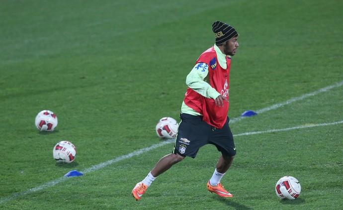 Neymar Treino Seleção Brasileira (Foto: Bruno Domingos / Mowa Press)
