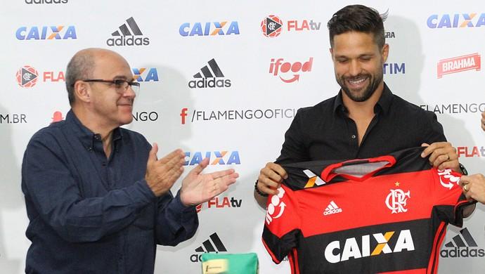 diego, meia, flamengo, apresentação (Foto: Gilvan de Souza/Flamengo)