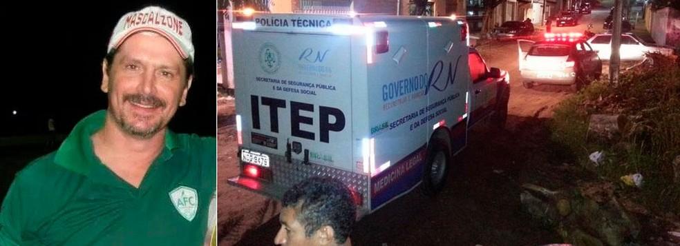 Enzo Albanese, 42 anos, foi morto no dia 2 de maio de 2014, na Zona Sul de Natal. (Foto: Canindé Pereira/Assessoria do Alecrim e Kleber Teixeira/Inter TV Cabugi)