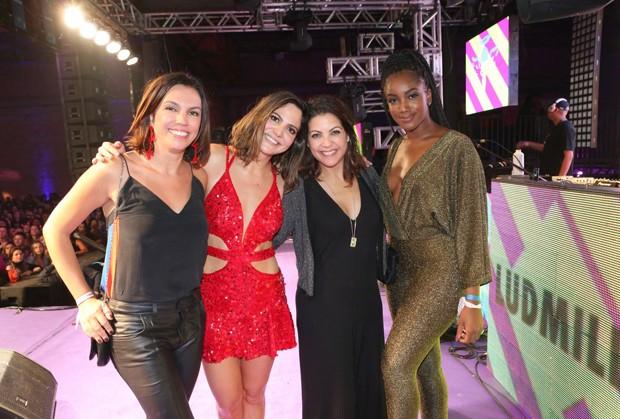 Ana Paula Araújo, Carol Sampaio, Thalita Rebouças e Iza (Foto: Reginaldo Teixeira/CS Eventos Divulgação)