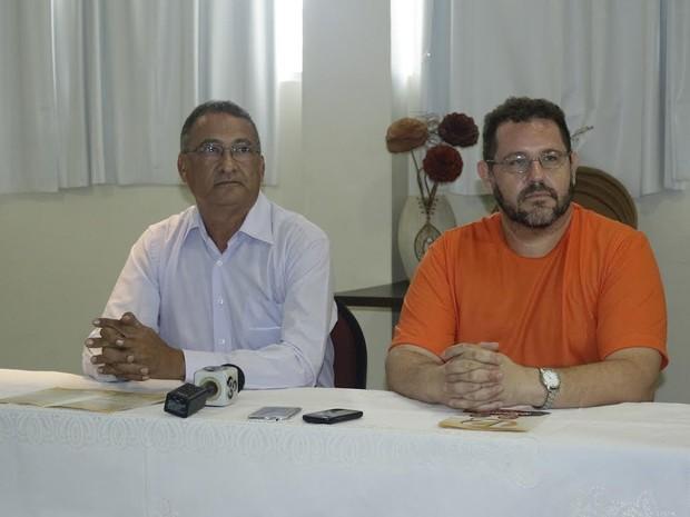 Professor Jefferson Fernandes (esq.) Professor EO Americo Lyra were eleitos reitor e vice-reitor da UFRR-, respectively (Foto: Pedro Alencar / Arquivo Pessoal)