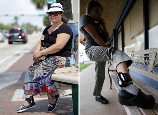 Diana Hernandez, imigrante ilegal de Honduras e Belky Rubio de El Salvador (Foto: Wilfredo Lee/AP)