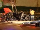 Fotos mostram como ficou carro em que Paul Walker estava após acidente