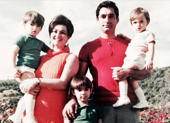 Família Zeca Camargo (Foto: Arquivo Pessoal)