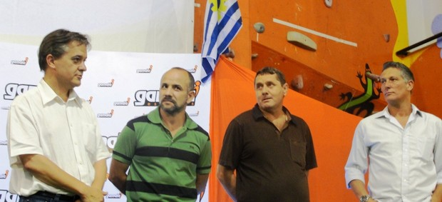 Robertinho da Padaria, Márcio Bittencourt e Carlinhos Almeida São José  (Foto: Arthur Costa/ Globoesporte.com)