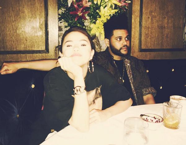 A cantora Selena Gomez e o cantor The Weeknd (Foto: Instagram)