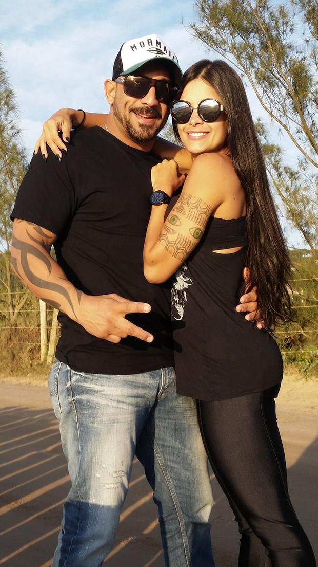 Aline Riscado e o marido, Rodrigo (Foto: Rodrigo Riscado)