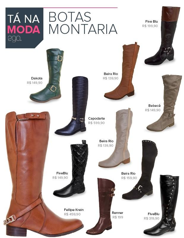 Tá na Moda - Bota Montaria (Foto: EGO)