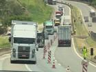 Trânsito permanece lento em trecho da Rodovia Fernão Dias no Sul de MG