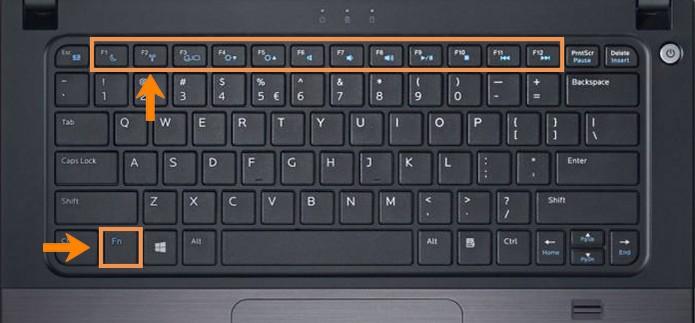 Pressione os atalhos do teclado para ativar o Wi-Fi (Foto: Reprodução/Barbara Mannara)
