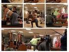 Mirella Santos faz pilates e mostra barrigão de seis meses de gestação