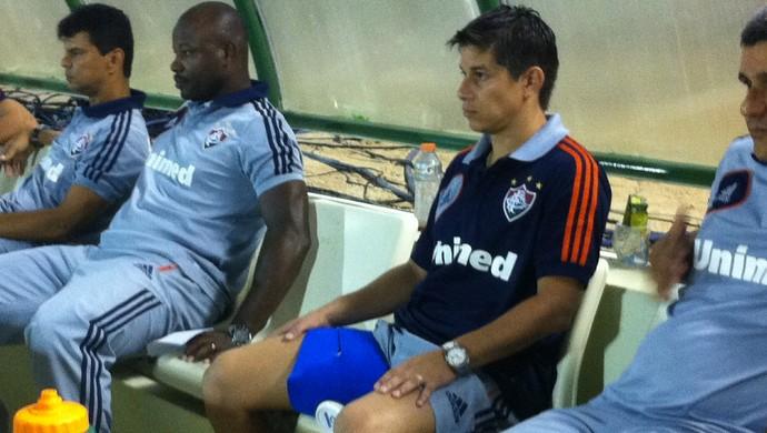 Conca foi substituído por Wagner no intervalo da partida contra o Horizonte (Foto: João Marcelo Sena)