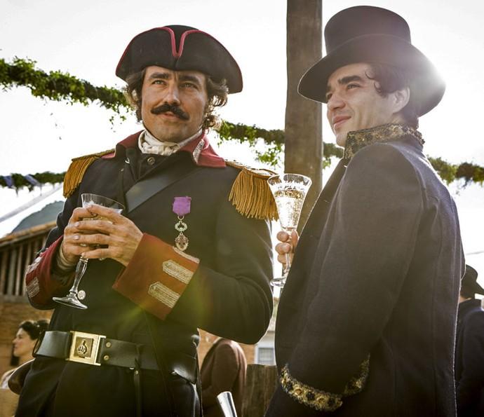 André e Tolentino mostram afinidade (Foto: Felipe Monteiro/Gshow)