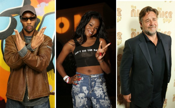 RZA, Azealia Banks e Russell Crowe (Foto: Getty Images)