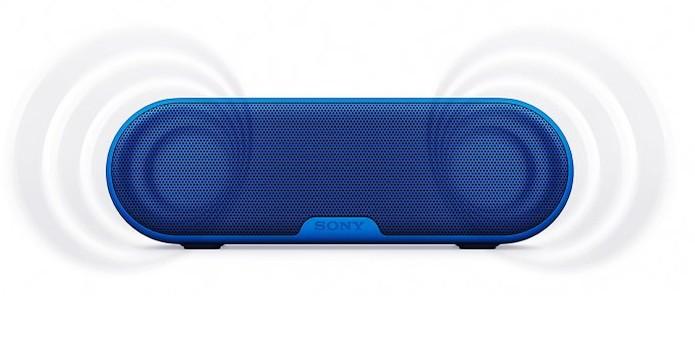 Caixa de som da Sony tem graves potentes, Bluetooth e NFC (Foto: Divulgação/Sony)