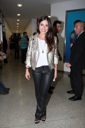 Camilla Camargo em show em São Paulo (Foto: Ag. News)