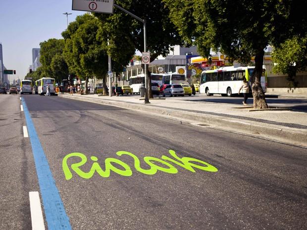 Faixa Prioritária será usada na Avenida Presidente Vargas, Centro do Rio (Foto: Daniel Coelho/ Divulgação)