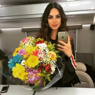 Thaila Ayala em camarim de set de filmagem (Foto: Reprodução/Instagram)