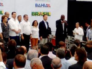 Dilma entrega estação do metrô de Pirajá, em Salvador (Foto: Rildo Araújo/TV Bahia)