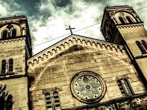 Catedral de Sant'anna ganha ares de envelhecida  (Foto: Vitor Cubas Siqueira/Arquivo pessoal)