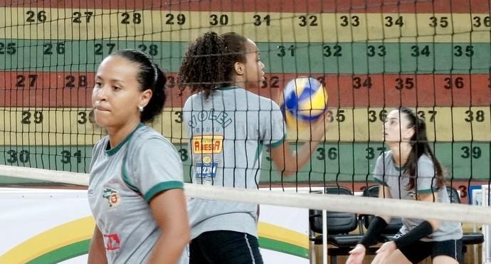 Vôlei feminino do Bauru durante treino no ginásio Panela de Pressão (Foto: Divulgação / Evegntos Assessoria)