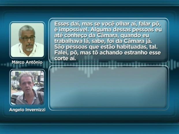 Escutas telefônicas revelam conversa entre Marco Antônio dos Santos e Ângelo Invernizzi Lopes (Foto: Reprodução/EPTV)