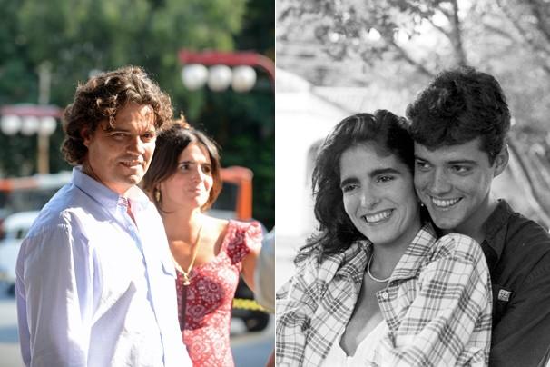 Em Sangue Bom, Malu Mader e Felipe Camargo são Rosemere e Terácio; em Anos Dourados (1986), eles viviam Lurdinha e Marcos (Foto: Rede Globo)