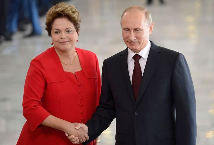 Vladimir Putin e Dilma Roussef (Foto: Wilson Dias / Agência Brasil)