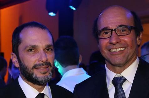 José Luiz Villamarim e George Moura (Foto: Paulo Belote/TV Globo)