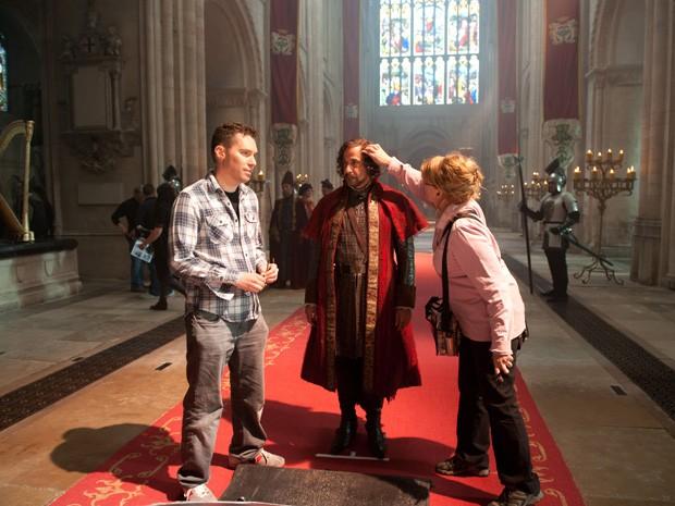 Bryan Singer filma 'Jack: O caçador de gigantes' em Londres (Foto: Divulgação)