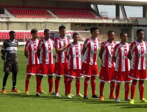 Time do CRB Sub-20 (Foto: Leonardo Freire/GloboEsporte.com)