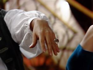 Pirangi exibe anel valioso (Foto: Gabriela / TV Globo)