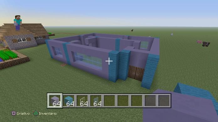 Termine de erguer as paredes de sua casa em Minecraft (Foto: Reprodução/Rafael Monteiro)