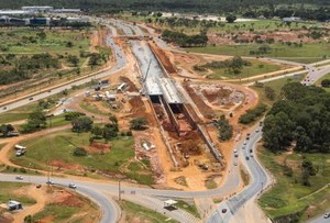 Ampliação DF-047 Obras da Copa Brasília Mobilidade Urbana (Foto: Portal da Copa / Divulgação)