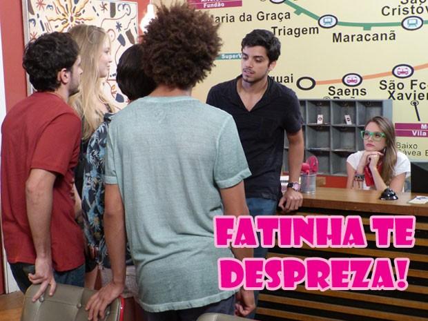 É, glr, a Fatinha não curtiu nem um pouquinho essa night do Bruno... (Foto: Malhação / Tv Globo)