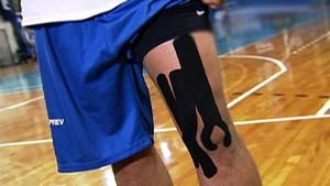 bandagem para fisioterapia (Foto: Reprodução SporTV)