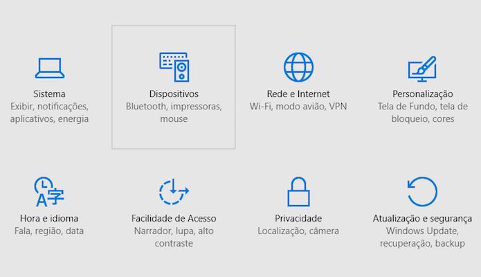 Acesse as configurações de dispositivos (Foto: Reprodução/Helito Bijora)