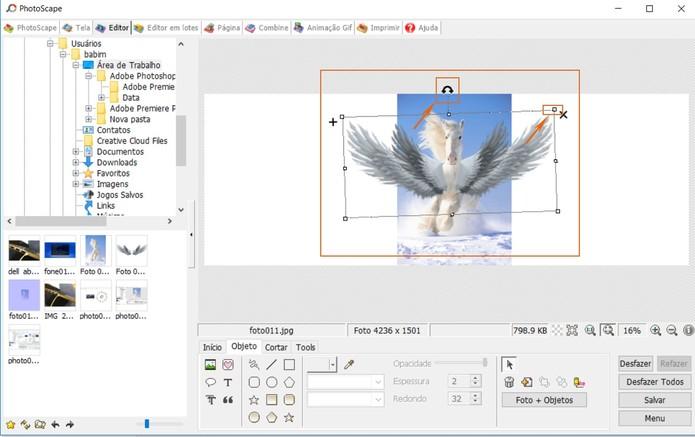 Redimensione a segunda imagem na montagem pelo PhotoScape (Foto: Reprodução/Barbara Mannara)