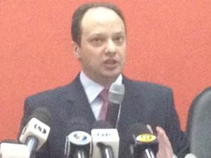 Secretário Joaquim Mesquita diz que polícia concentra trabalhos em áreas críticas (Foto: Fernanda Borges/G1)