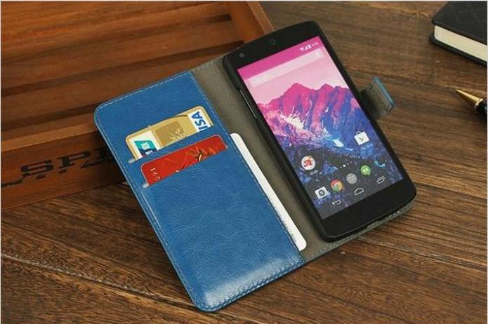 Capa carteira de couro para Nexus 5 (Foto: Divulgação/Ali Express) (Foto: Capa carteira de couro para Nexus 5 (Foto: Divulgação/Ali Express))